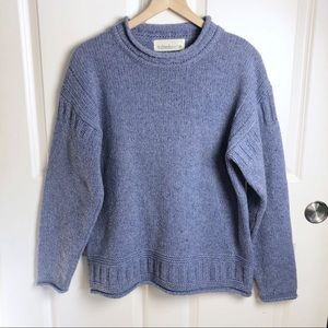Ireland's Eye Lambswool & Silk light blue sweater
